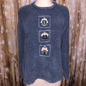 VINTAGE Christopher and Bank Angel Holiday sweater